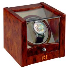 """Buy """"Time Tutelary Automatic Watch Winder"""" with Shopattack.in.  Our winder gives you facility to see your watch clockwise and anticlockwise as well as auto rotation, approx 2430 turns every day.  Get your watch winder now."""