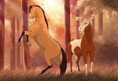 Spirit Horse Movie, Spirit The Horse, Spirit And Rain, Horse Drawings, Animal Drawings, Pretty Horses, Beautiful Horses, Mustang, Horse Animation