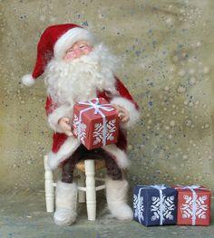 Needle Felted Santa Claus via Etsy.