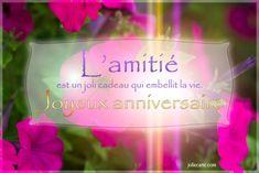 L'amitie est un joli cadeau qui embellit la vie
