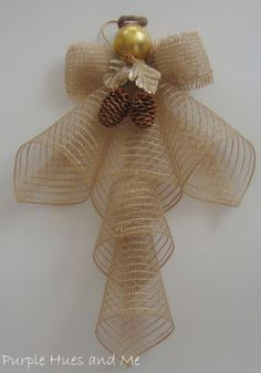 mesh ribbon angel, crafts, seasonal holiday d cor, wreaths Angel Crafts, Christmas Projects, Holiday Crafts, Holiday Decor, Christmas Angels, Christmas Wreaths, Christmas Decorations, Christmas Ornaments, Christmas Ribbon Crafts