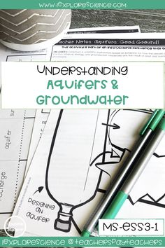 Engage students in engineering while building an understanding of groundwater and aquifers! NGSS aligned lesson based on the Model. Builds towards Fourth Grade Science, Middle School Science, Earth And Space Science, Earth Space, Learning Targets, Next Generation Science Standards, Science Notebooks, Science Curriculum, Nature Study