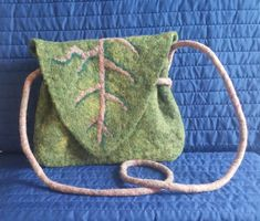 Leaf Purse Felted Purse One of a Kind Felted Bag Functional