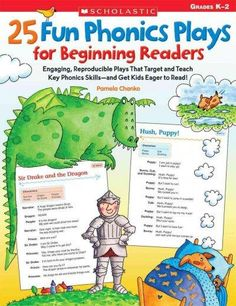*Get [EPUB] 25 Fun Phonics Plays for Beginning Readers: Engaging, Reproducible Plays That Target and Teach Key Phonics Skills?and Get Kids Eager to Read! By - Pamela Chanko Phonics Reading, Kindergarten Reading, Teaching Reading, Reading Comprehension, Guided Reading, Fun Learning, Phonics Activities, Reading Activities, Teaching Phonics