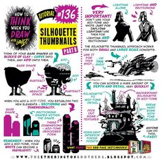 """554 Likes, 5 Comments - The Etherington Brothers (@etheringtonbrothers) on Instagram: """"Here's how to THINK when you draw SILHOUETTE THUMBNAILS tutorial part TWO! HUNDREDS more free…"""""""