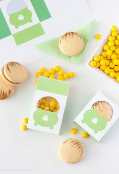 "St Patrick's Day free printable boxes and bags | Free Printable ""Pot of Gold"" Boxes 