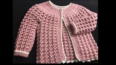Crochet Baby Sweater Pattern, Crochet Baby Sweaters, Baby Sweater Patterns, Crochet Baby Cardigan, Knitted Baby Clothes, Crochet Jacket, Crochet Baby Hats, Crochet For Kids, Crochet Clothes