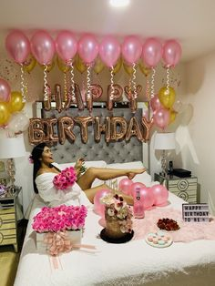 25th Birthday Ideas For Her, Happy Birthday Decor, Simple Birthday Decorations, Birthday Goals, Birthday Party For Teens, 18th Birthday Party, Girl Birthday, Birthday Girl Pictures, Birthday Photos