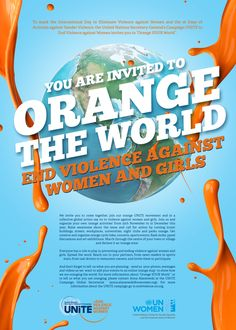 Orange the world poster 2015