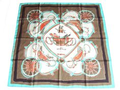 Hermes: Authentic Hermes Silk Scarf New Springs Rybaltchenko 90 Cm | MALLERIES