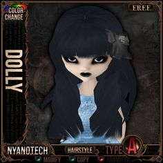 [FREE]&[Mesh] =^.^= Curious Kitties Unreal Fuzz - Color Change Hair - Nyanotech Hair [Type A] - Dolly V3