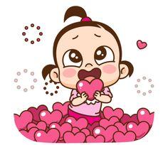 Cute Drawings Of Love, Cute Cartoon Drawings, Cute Cartoon Characters, Funny Cartoon Memes, Cartoon Gifs, Hug Gif, Cartoon Chicken, Cute Love Gif, Cute Love Cartoons