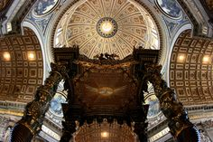 https://flic.kr/p/5K2SG4 | Since 1506 | The Basilica of Saint Peter ( Basilica di San Pietro) is located within the Vatican City, an independent state land-locked by the city of Rome. It occupies a unique position as one of the holiest sites and as the greatest of all churches in Christianity. In Catholic Tradition, it is the burial site of its namesake Saint Peter, who was one of the twelve apostles of Jesus. This church existed from the 4th century but the basilica was rebuilt in april of…
