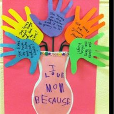 "Inspiration: ""I Love My Mom Because…."" Craft"