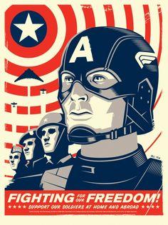 Mondo: The Archive | Eric Tan - Captain America, 2011