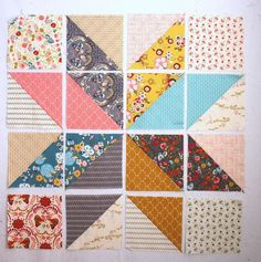"""Lone Star Baby Quilt Quilt-Along Part I-Assembly 39"""" x 39"""" uses 10"""" squares."""