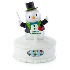 The Conductor of the Interactive Musical Christmas Concert Snowmen-one of five pieces--I love this entire set! *Trisha