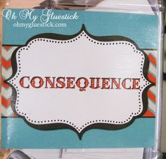 The Consequence Jar ~ Oh My Gluestick