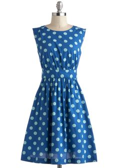 Too Much Fun Dress in Blue Dots by Emily and Fin