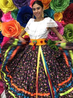 Mexicana Rojo Falda Solamente Día De La Muerto Hecho A Mano