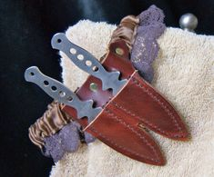Steampunk Garter with Dual-Leather Knife by ExpressSteamWorks
