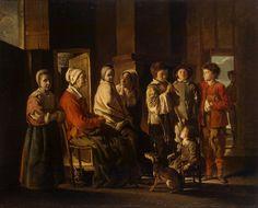 A la pediatría desde el arte. Visita a la abuela. Louis Le Nain, 1640