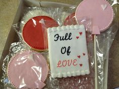 """Cookies for our Valentine's day """"balloon"""" themed party!"""