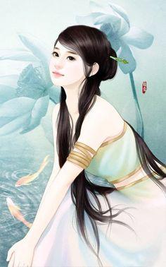 A volte indosso la maschera della felicità non per proteggere me stesso, ma per proteggere la serenità di chi mi vuole bene.  Anonimo Beautiful Fantasy Art, Beautiful Drawings, Beautiful Paintings, 3d Fantasy, Fantasy Girl, Chinese Painting, Chinese Art, Chinese Drawings, Chinese Festival