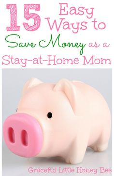 15 Easy Ways to Save Money as a Stay At Home Mom