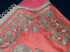 Capital Antiques and Fine Art, A Silk Satin robe with silver thread embroidery, probably Morocco, Early 20th Century.
