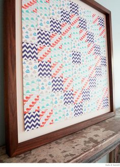 Crafty Inspiration: Paper Quilt from Linda &Harriett - Home - Creature Comforts - daily inspiration, style, diy projects + freebies