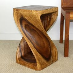 12 inches Square x 20-inch Wooden Hand-carved Walnut Oil Twist Stool (Thailand) - 13047893 - Overstock.com Shopping - Big Discounts on Haussmann Stools