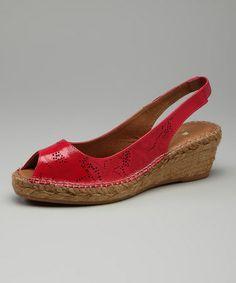 Look at this #zulilyfind! Fuchsia Patent Rocha Sandal #zulilyfinds