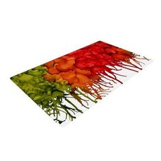 East Urban Home Claire Day Fall Splatter Red/Orange Area Rug Rug Size: 4' x 6'