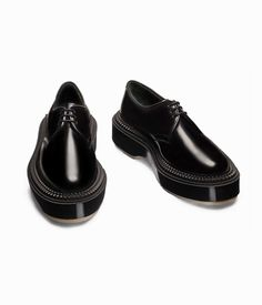 Paris-based shoe company Adieu draws inspiration from classic fashion of the and the punk rock scene in the and Living on the cutting-edge of fashion, th. Calf Leather, Leather Shoes, Dark Side, Team Wallpaper, Derby Dress, Mens Attire, Shoe Company, Popular Mens Fashion, Punk Rock