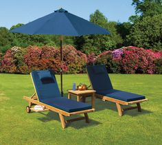 Two is always better than one! So treat yourself to this superb teak garden sun lounger set. Expertly manufactured in plantation grown, genuine Grade-A Teak Tectona grandis for long life and aesthetic appeal, this teak garden sun lounger set has been built to last and can be left outdoors all year round in any weather. #teak #sunlounger #furniture #garden #patio
