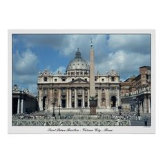 San Pietro - ROMA - Pope Francis' recent visit to the US has me thinking about this print.  Photograph of St. Peters Basilica, taken by me, 1990. Scanned from negative.