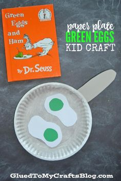 9 Colorful Green Projects: Paper Plate Green Eggs Kid Craft