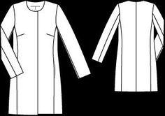 Пальто - выкройка № 110 из журнала 3/2012 Burda – выкройки пальто на Burdastyle.ru