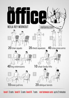 Free Workout Routines Based on Your Fave TV Shows & Movies The Office workout by Neila Rey.The Office workout by Neila Rey. Fitness Workouts, Hero Workouts, At Home Workouts, Fitness Tips, Fitness Motivation, Workout Routines, Cardio Workouts, Workout Fitness, Neila Rey Workout