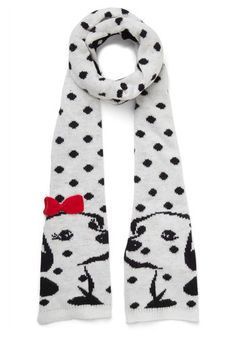 Penny For Your Spots Scarf. If you had a penny for every compliment you receive on this dalmatian-print scarf from Alice Hannah, youd have quite a lot of cash! #gold #prom #modcloth