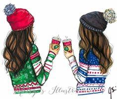Arkadaş çizim best friend drawings, drawings of friends ve bff drawings.