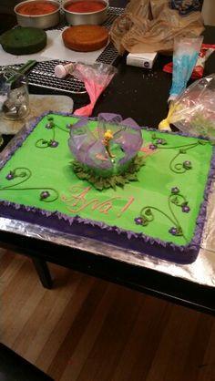 Tinkerbell sheet cake