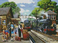 Train to the Coast cross stitch chart - Artecy Cross Stitch