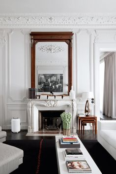 Paris apartment designed by Double G. Photo by Helenio Barbetta. - Fireplace Ideas