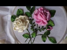 Ribbon Embroidery For Beginners Hand embroidery designs. Ribbon embroidery by hand tutorial. Ribbon Embroidery Tutorial, Flower Embroidery Designs, Learn Embroidery, Hand Embroidery Stitches, Embroidery For Beginners, Silk Ribbon Embroidery, Crewel Embroidery, Embroidery Patterns, Embroidery Store