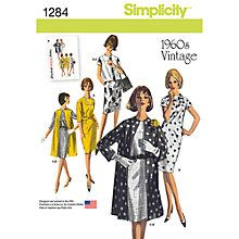 Buy Simplicity Women's 1960 Vintage Jackets Sewing Patterns, 1284 Online at johnlewis.com