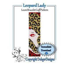 Bead Pattern Loom(Bracelet Cuff)-Leopard Lady