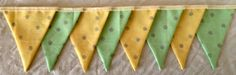 Spring Fabric Bunting by MollyFelicityDesigns on Etsy, £10.00
