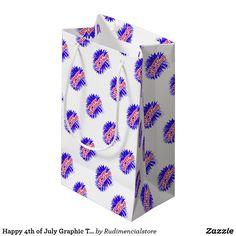 Happy 4th of July Print Zazzle Gift Bag